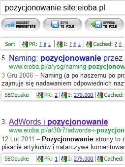 Szukanie mocnych podstron na eioba.pl