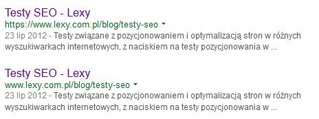 Индексация адресов с помощью http и https