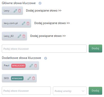 Monitori.pl - конфигурация проекта