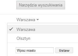 Изменение местоположения в настройках Google